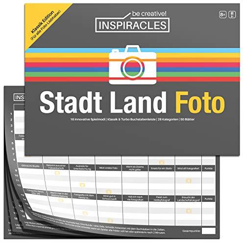Stadt Land Foto - Gesellschaftsspiel für Fotografen - lustige Fotografie Version von Stadt Land Fluss - Fotografie Zubehör und Geschenk