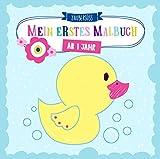 Mein erstes Malbuch ab 1 Jahr: Ausmalen und kritzeln der ersten Wörter für Mädchen und Jungen mit Tieren, Fahrzeugen sowie Sonne, Mond und Sternen - Zaubersüss Malbücher