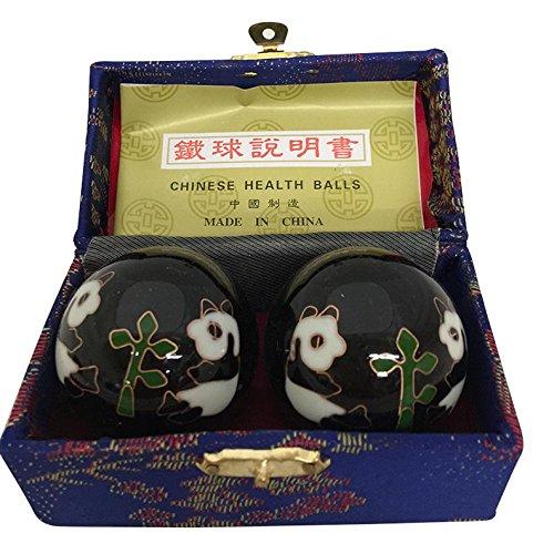 Baoding Balls Chinese Health Massage Exercise Stress Balls -Black...