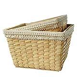 Tassel storage frame soft woven basket home stay decorative toy storage basket
