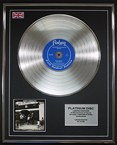 CREEDENCE CLEARWATER REVIVAL/Limitierte Edition Platin Schallplatte/WILLY AND THE POOR BOYS