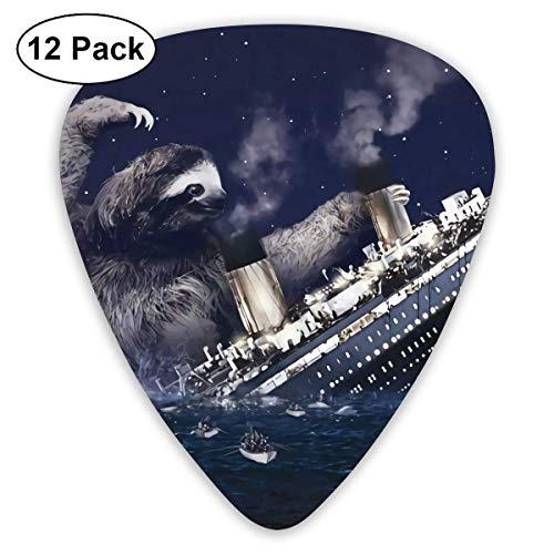 Faultier Titanic 12 Tabletten Gitarren Pick für akustische E-Gitarren Ukulele mit verschiedenen Größen enthalten dünne, mittlere, dicke Anzeigen