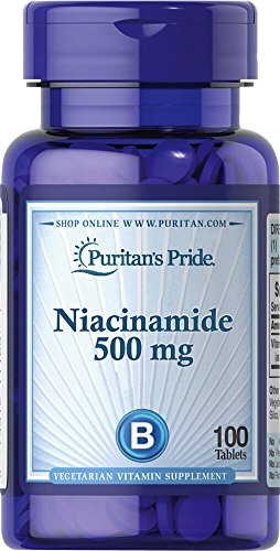 Niacinamide Niacina B3 500mg (100 Tabs) Puritans Pride