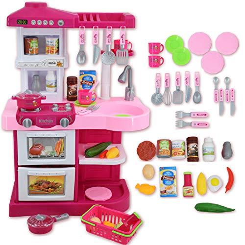 deAO Mi Little Chef - Cocinita de Juguete con 30 accesorios incluidos,...