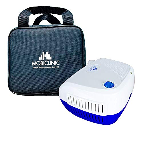 Mobiclinic, Neb-2, Nebulizador compresor, Mini, Blanco y azul