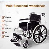 SUN RNPP Accessoires pour fauteuils roulants et scooters électriques Fauteuil Roulant Transport en Acier léger de Drive Medical à Pleins Bras Fixes Pliables avec la Toilette