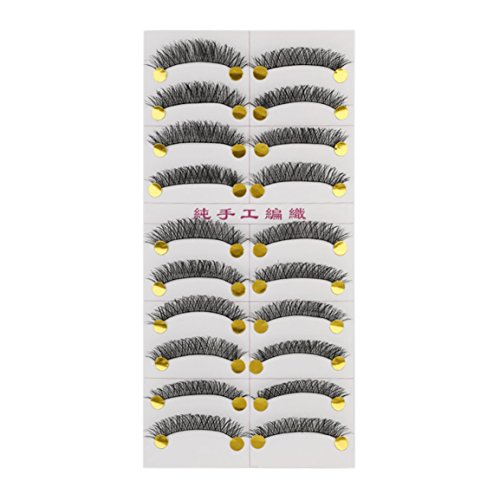 M14 Handmade False Eyelash Janpanese Style Pure Manual Long Thick Messy 10 Pairs Popular Beauty Tool for Women Makeup