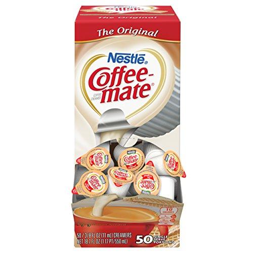 Nestle Coffee-mate Coffee Creamer, Original, 0.375oz Liquid Creamer Singles, 50 Count