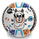 Mondo Toys - Pallone da Beach Volley LLAMA - size 5 pallavolo - 270 g - Colore arancione / blu / viola - 13853