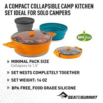 Sea to Summit X-Set: 21 3pcs (X-Pot 1.4L, Bowl, 1 X-Mug) Casserole Camping et Randonnée, Adultes Unisexe, Multicolore, Taille Unique