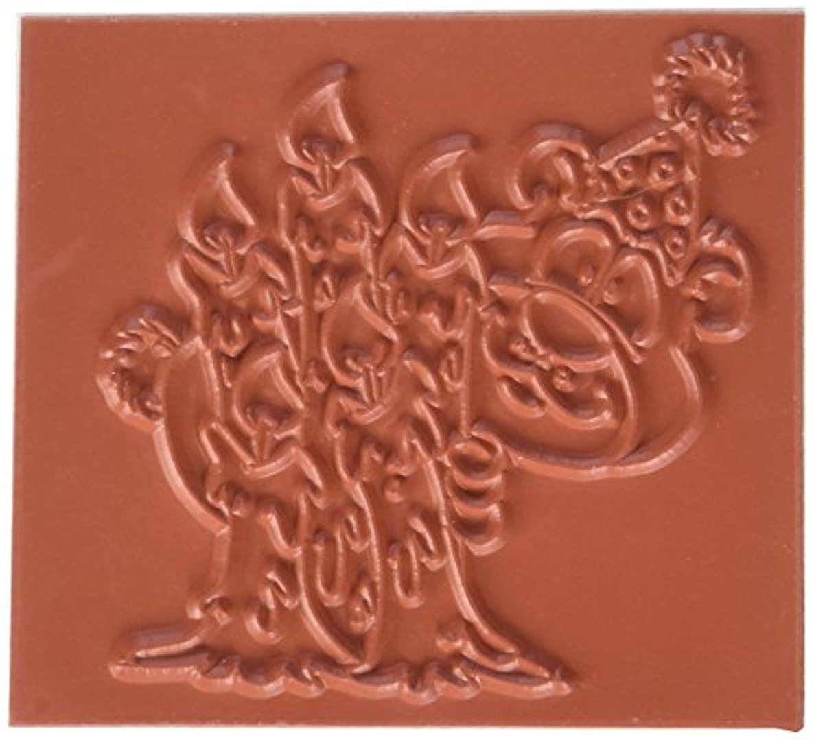 C.C. Designs Peek-A-Bear Doodle Dragon Cling Stamp, 2.75 by 2.75