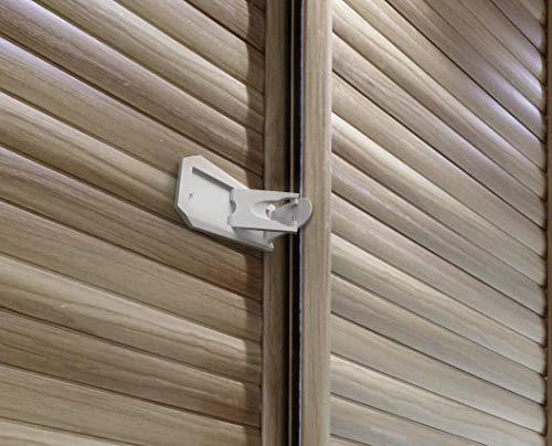 Bloqueo de la puerta corredera de armario correderas y cerraduras de ventanas, Pruebas de bebé seguro de Basics, 2unidades