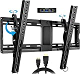 Everstone Adjustable Tilt TV Wall Mount Bracket for Most 32-86 Inch LED,LCD,OLED,Plasma Flat Screen,Curved TVs,Low Profile,Up To VESA 600x400 and 165 lbs,Includes HDMI Cable and Level,Fits 16