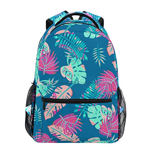 Kunstpalme Tropische Blätter Rucksack Schulter Bookbag Kinderrucksack Teen Jungen Mädchen Büchertasche Laptop Rucksäcke
