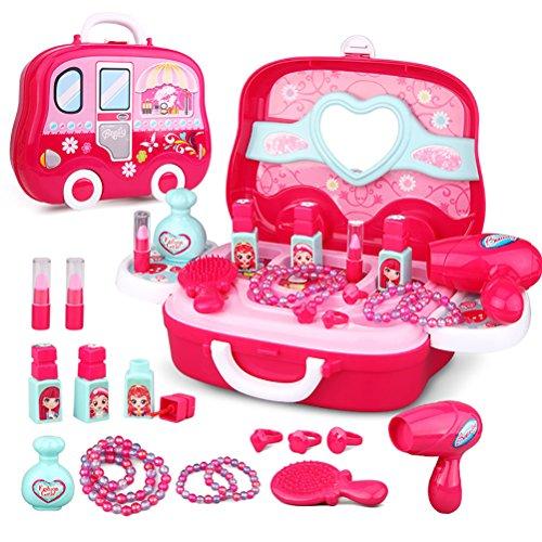 Maletin De Belleza y peluqueria Juguete de joyería para niñas a partir de 3 años