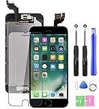 Ecran LCD Vitre Tactile Complet sur Châssis pour iPhone 6 Noir 4,7'' avec Outils Bouton Home Écouteur Interne Caméra De Face Tout Assemblé