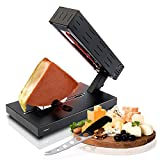 Electric Raclette Cheese Melter Machine - Table Top Stainless Steel Cheese Grill Melting Warmer...