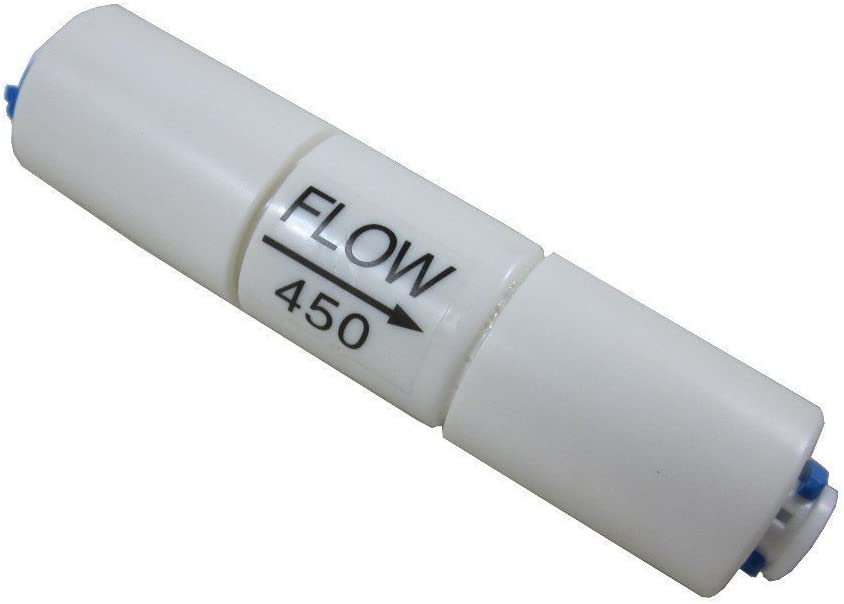 Malida 1//4 inch Quick Connector Fittings Flow Restrictor for RO Water purifiers Reverse Osmosis Systems 2, 300CC-50GPD