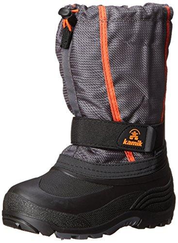 Kamik Carver Kids Winter Boot (Toddler/Little Kid/Big Kid), Charcoal, 9 M US Toddler