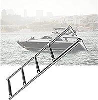 WSVULLD 伸縮式ボートラダー、水泳、滑り止めペダル、便利な折りたたみ式、2サイズ(サイズ:4ステップ) (Size : 4-steps)