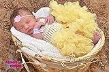 Generic Princess-Dreams Baby Mädchen Haarband HB72 rosa Taufe Hochzeit Babyfotografie