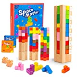 VATOS Wooden Puzzle Game Brain Teaser Toy Logic IQ Game for Kids Age 4 5 6 7 8 9 10 Smart Game Space Master Intelligence Colorful 3D Russian Puzzle Blocks STEM Educational Toy Gift for Children Adults