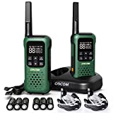 GOCOM G9 22 Channels FRS Two Way Radios, Long Range Adults Walkie Talkies, IP67 Waterproof, VOX Hands-Free, Flashlight & SOS Emergency Lamp, NOAA Weather Alert Walkie-Talkie for Outdoor Adventure