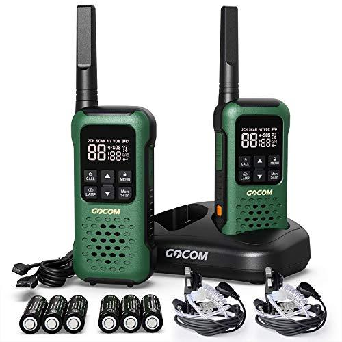 GOCOM G9 22 Channels FRS Two Way Radios, Long Range Adults Walkie Talkies, IP67 Waterproof, VOX Hands-Free, Flashlight & SOS Emergency Lamp, NOAA Weather Alert Walkie-Talkie for Outdoor (Green). Buy it now for 72.99