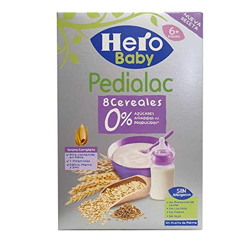 Hero Pedialac 8 Cereales 0% Azúcares 340 g