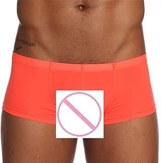 Colmkley Men's Ice Silk Boxers Sleepwear Underwear Shorts Lounge Underpants