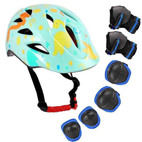 Speedrid Fahrradhelm für Mädchen Junge, Kinder Beschützende Ausrüstung Knieschoner Kinderpolster, Ellenbogen und Knieschützer Pads mit Handgelenkschutz 6 in 1 für Extreme Sportaktivitäten