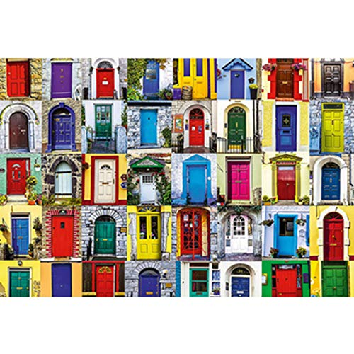Brain Challenge Puzzle Middellandse deuren en ramen 500/1000/1500/2000/3000/4000/5000/6000 Pieces Houten Vergadering puzzel Toys Modern Home Decoration,500PCS