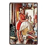 Barber Shop Pin Up Girl Carteles metálicos Wall Bar Home Hotel Art Decor-20x30cm...