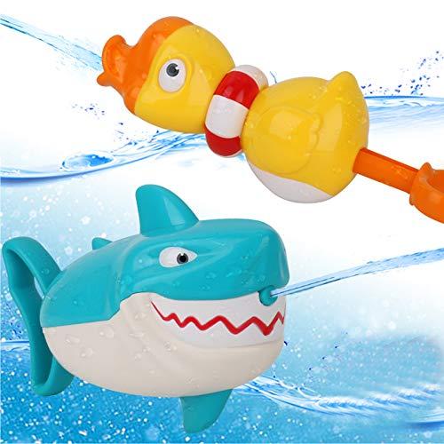 Dwi Dowellin Water Toys Shark Duck Squirt Guns Shooter Blaster for Pool Bathtub Beach Water Table...