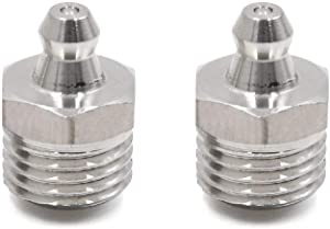 sourcing map 2pcs M14 1 5 Stainless Steel Straight Grease Nipple Fitting for Car