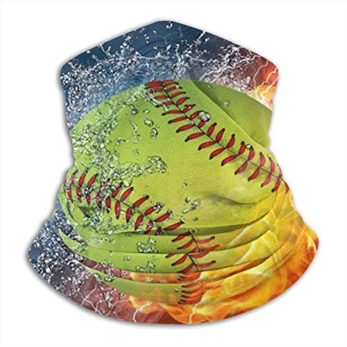 ShiHaiYunBai Halstuch/Kopftuch Fire Softball Customized Mouse Pad Rectangle Mouse Pad Gaming Mouse Mat MP2264 Neck Gaiter Warmer Windproof - Free UV Face