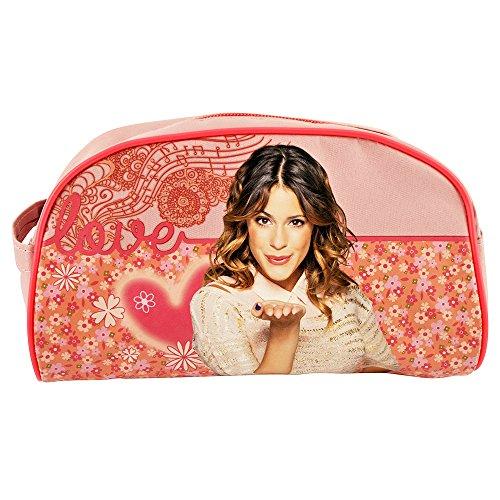 Violetta EMD Cadeau Trousse de Toilette ou de Maquillage Rose à Motifs