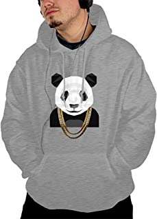 BIKKI Men's Adult Full-Zip Hooded Sweatshirt 3D Desiigner Panda Hoodie with Pocket