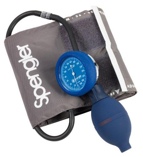 Spengler Lian NM - Tensiómetro manual con brazalete para adultos (velcro, nailon, talla M), color gris