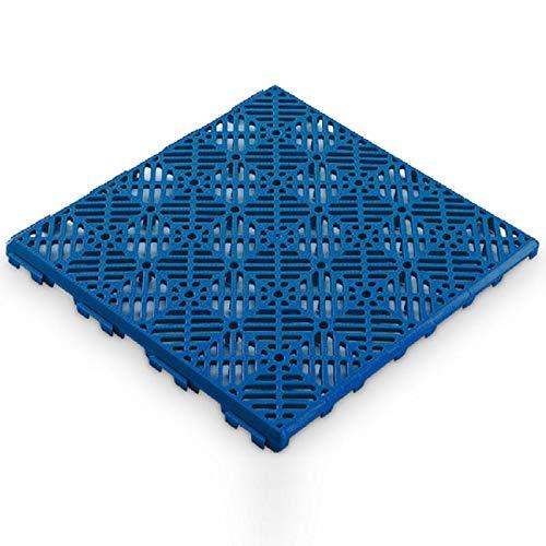 Antihumedades Pack 12 Losetas para Suelos Ventilada remolques, perreras, y jaulas -30x30cm- Color Azul