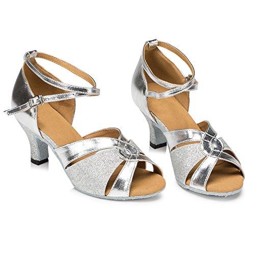 Minitoo Damen Tanzschuhe Silber - 3