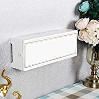 GIOAMH ルーター収納ラック壁掛けルーターマウント、ケーブルマネージャー、Wifiエクステンダー、ネットワーク機器収納ボックス(白とグレー)壁掛け,A,中