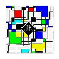INOV モンドリアンへ 任意正方形 尊敬 ファブリックパネル アートパネル 壁掛け ウォールパネル アート パネル 飾り 40x40cm