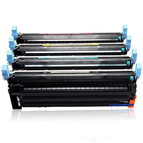 WBZD Cartucho de tóner de repuesto compatible para HP Color Laserjet 4730 CM4730 MFP, cartuchos de tinta negro, cian, magenta, amarillo-4colors