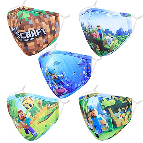 Kids Breathable Washable Face Mask Masks, 3D Reusable Cute Children Child Girls Boys Facemask, Youth Teens Kid Cloth Cotton Adjustable Sports Mascarillas para Niños