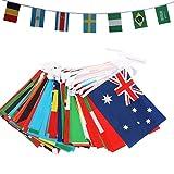 LnVision 10M WM 2018 Flagge in Russland 32 Länder Fahnen Zufällige Flaggen Perfekte Dekorationen 20 cm X 28 cm für Bar Party Festival Sportvereine