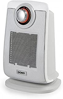 Domo DO7338H Calentador de Ventilador Gris 2000 W - Calefactor (Calentador de Ventilador, Piso, Gris, 2000 W, 1300 W, 255 mm)