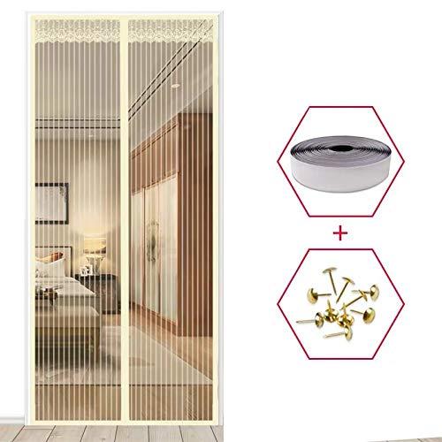 Caliente verano casa dormitorio anti-mosquitos y mosca cortina red magnética cierra automáticamente la puerta cortina de cocina A3 W90xH210
