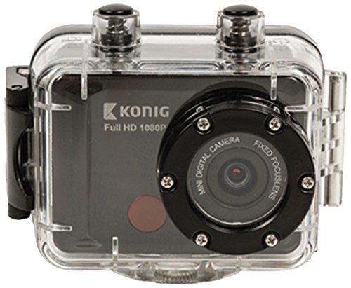 KONIG CSAC300 Waterproof Full HD 1080p Action Camera (Snowboarding, Skydiving, Rafting, Cycling, Running, Anything!)
