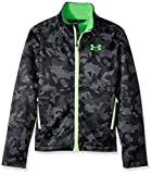 Under Armour Outerwear Boy's Under Armour Boys' Storm Softershell Jacket, Steel/Lime Twist, Youth Medium